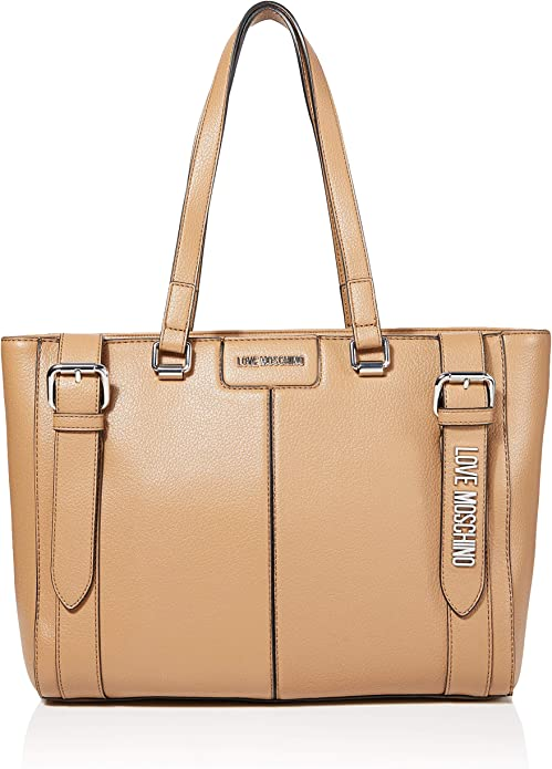 Love Moschino Damen Borsa Pebble Grain Pu Tote, 28x42x13 centimeters