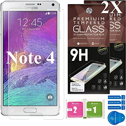 Cell Phone DIY Samsung Galaxy Note 4 Ballistic Glass Screen Protector,  Premium Tempered Glass with 99 99% HD Clarity and 3D Touch Accuracy [2-Pack]