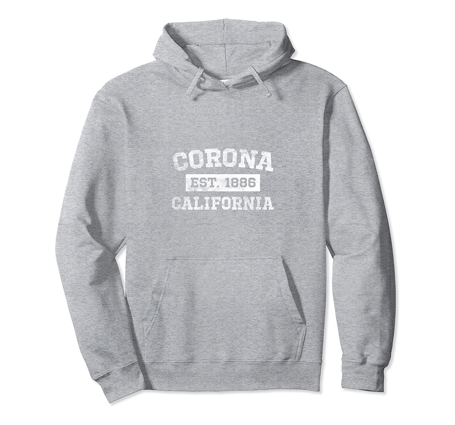 Corona California Est. 1886 Hoodie Sweatshirt Distressed-TH