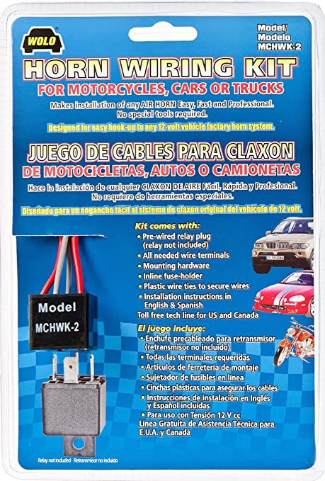 91CMt7qlWML._SY679_ amazon com wolo (mchwk 2) air horn wiring kit automotive EZ Wiring Harness Diagram Chevy at bayanpartner.co