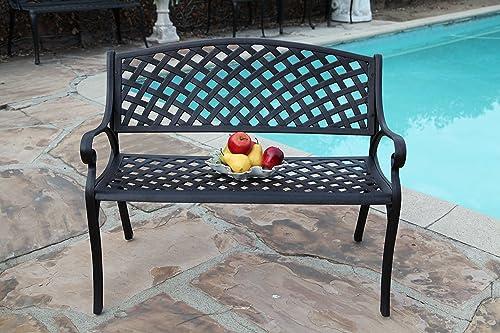 CBM Patio Furniture Solid Cast Aluminum Kawaii Collection Bench K DS-29B CBM1290