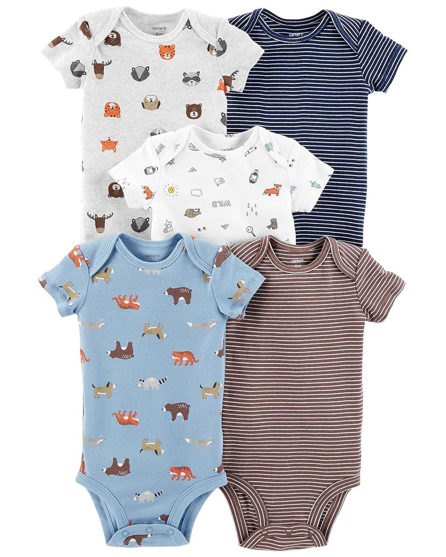 b7595a27f Amazon.com: Carter's Baby Boys' Multi-pk Bodysuits 126g402: Clothing