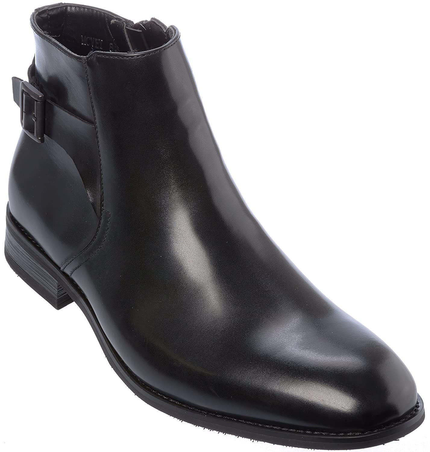 Mens Slip-On Oxford Boots Shoes mcveyBlack