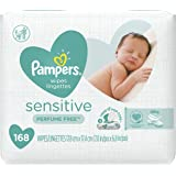 Pampers Sensitive Water Baby Wipes 3X Pop-Top Packs, 168 Count