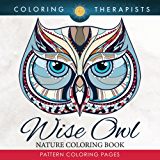 Wise Owl Nature Coloring Book: Pattern Coloring Pages