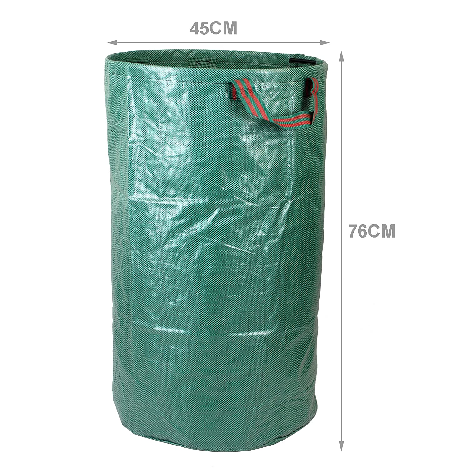 Durable PP Woven Fabric Ideal for Garden Waste Water Repellant Coating Double Stitched Strong Handles simpa 3 x Heavy Duty 120L 120 Litre Garden Bags 76cm x 45cm Leaves /& Cuttings.