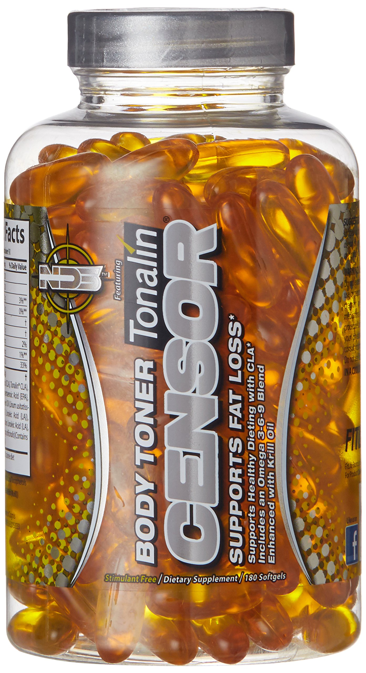 NDS Nutrition CENSOR Specialized Body Toning Supplement for Losing Inches - 180 Softgels