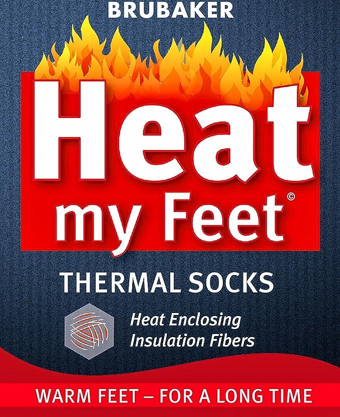 BRUBAKER Heat my Feet Thermal Socks 2 Pairs