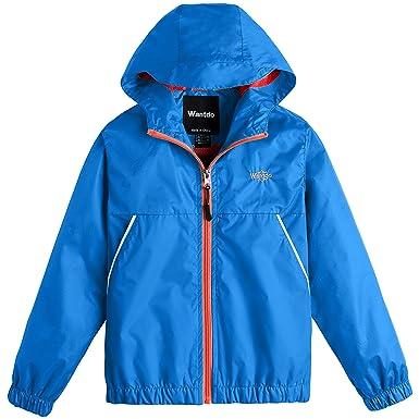 12b942796db1 Amazon.com  Wantdo Boy s Lightweight Rain Jacket Camping Hiking ...