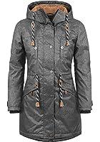 BLEND SHE Dale Damen Parka lange Jacke Winter-Mantel mit Kapuze und Teddy-Futter aus hochwertiger Materialqualität
