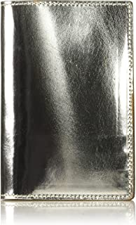 product image for Circa Leathergoods Women's Handcrafted Italian Metallic Leather Passport Wallet