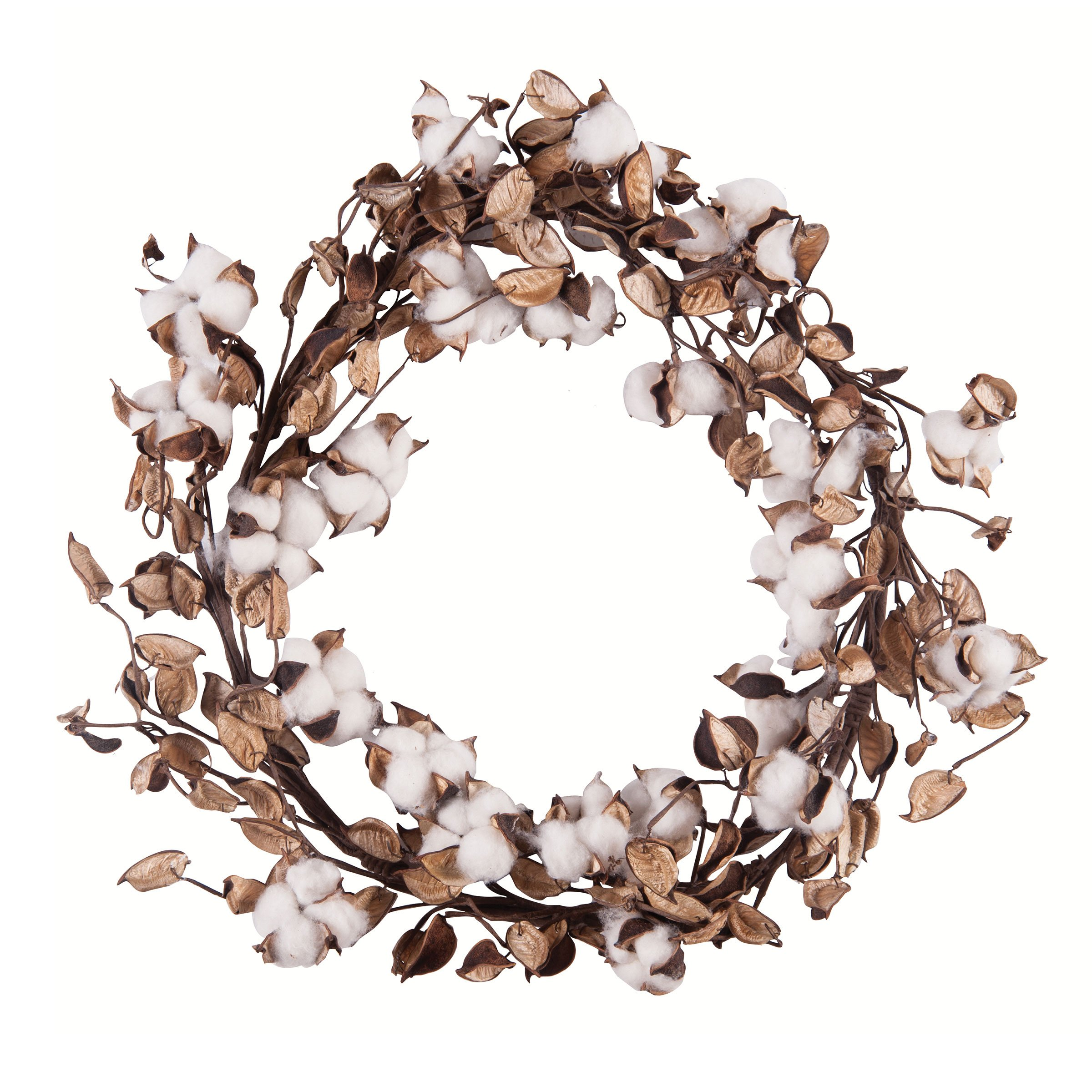 GALLERIE II Cotton Plant Wreath Natural by GALLERIE II