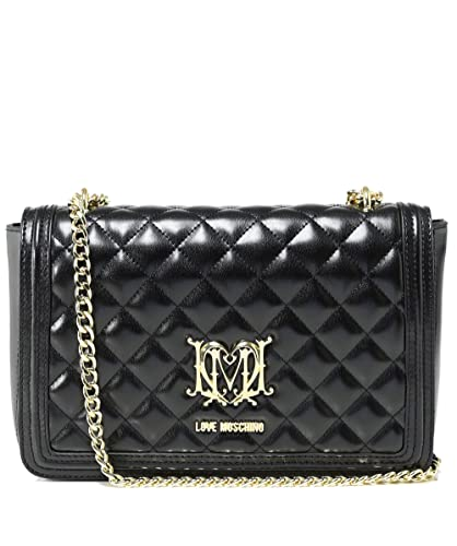 eaa1289109 Moschino Love Moschino Women's Quilted Logo Shoulder Bag Black One Size:  Handbags: Amazon.com