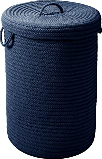 """product image for Colonial Mills Simply Home w/lid Hamper, 18""""x18""""x30"""", Navy"""