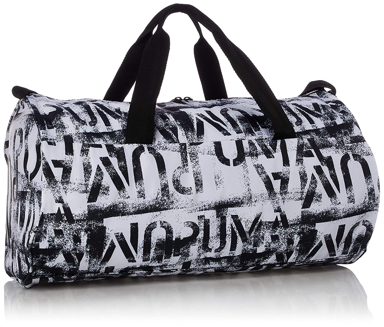 PUMA Damen at ESS Barrel Bag Sporttasche, Black White, OSFA
