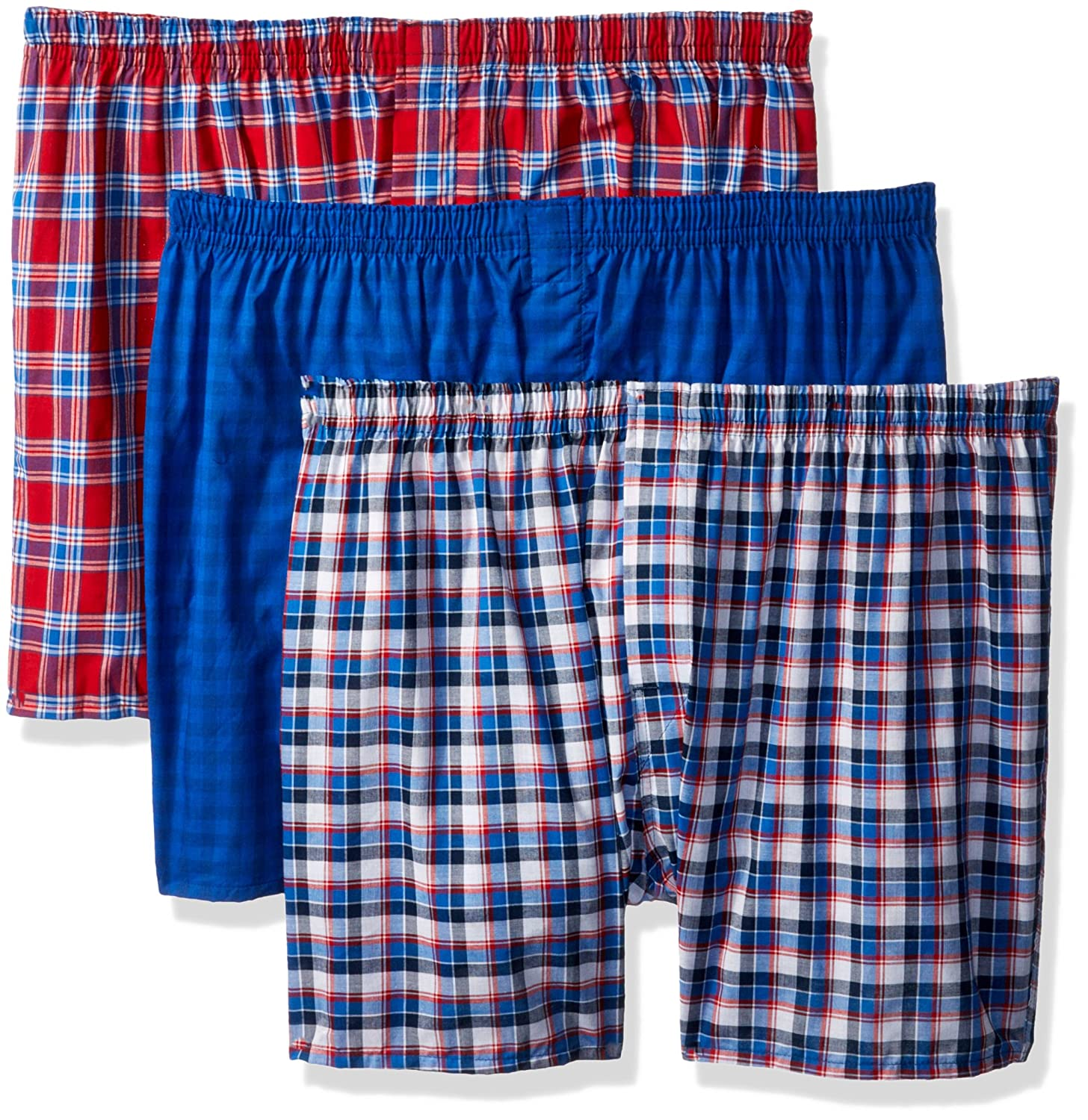 Hanes Red Label Men's ComfortBlend Woven Boxers Assorted XX-Large MBBXC3