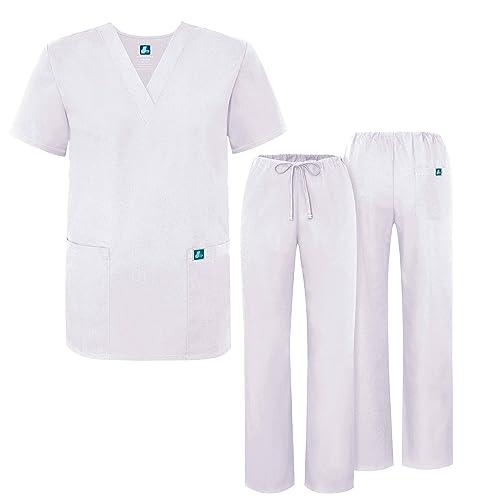 ADAR UNIFORMS Unisex Scrub Set – Medical Uniform with Top and Pants