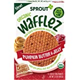 Sprout Organic Baby Food, Stage 4 Toddler Snacks, Pumpkin Butter & Jelly Wafflez, Single Serve Waffles (5 Count)