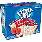 Pop-Tarts Breakfast Toaster Pastries, Frosted Strawberry Flavored, 22 oz (12 Count)