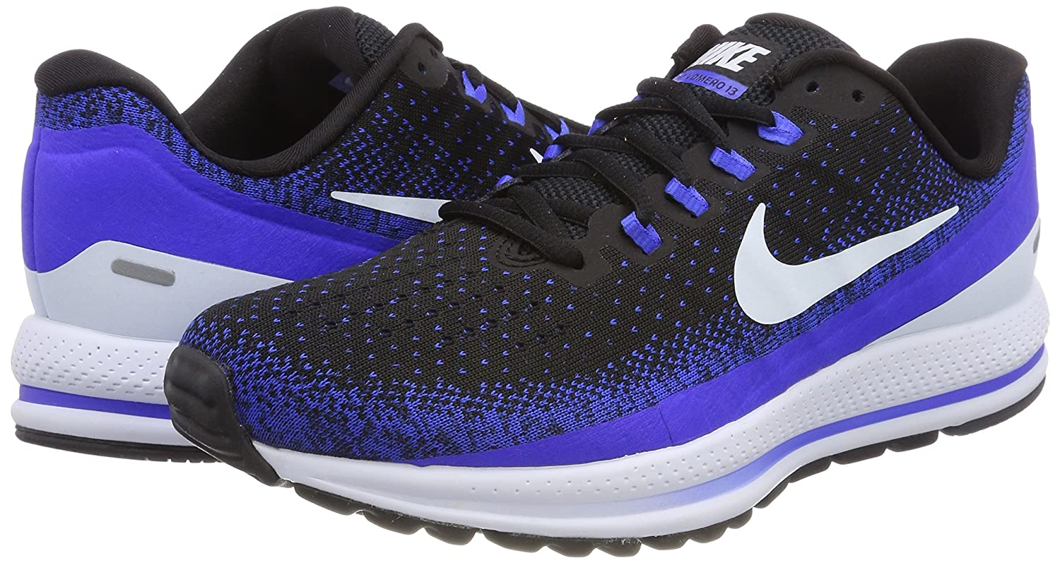 13f5adbfcd34 Nike Men s Air Zoom Vomero 13 Running Shoe Black Blue Tint-Racer Blue 12.5   Buy Online at Low Prices in India - Amazon.in