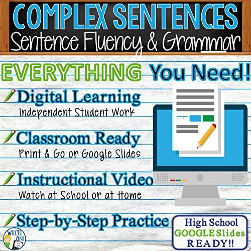 This Writing Complex Sentences Activity Has Identification And Usage  Activities For Replacing Simple Sentences With Complex Sentences. (Sentence  Structure And Subordinate Clauses Are Explained.) Ready To Be Used With  Distance Learning, A Flipped Classroom
