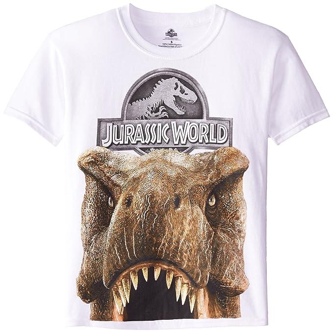 67b8d406 Jurassic Park Big Boys' Jurassic World Tyrannosaurus Big Face Boys 8-20  Short Sleeve Tee, White, Large: Amazon.ca: Clothing & Accessories