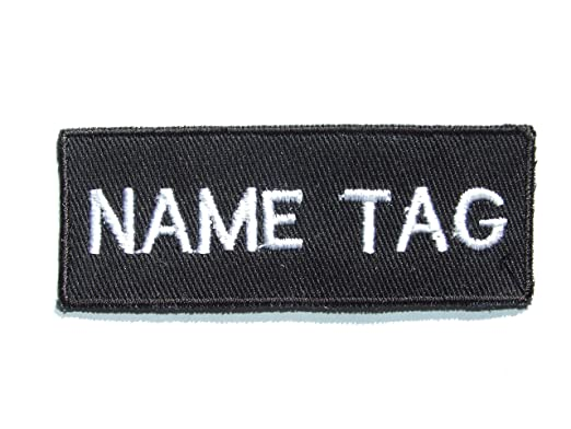 CUSTOM Personalised Embroidered Iron-On Patches, Your Name Tag , by ONEKOOL  , SET
