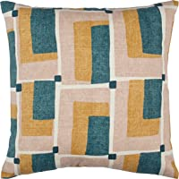 "Rivet Mid-Century Geo Print Pillow, 17"" x 17"" , Blush"