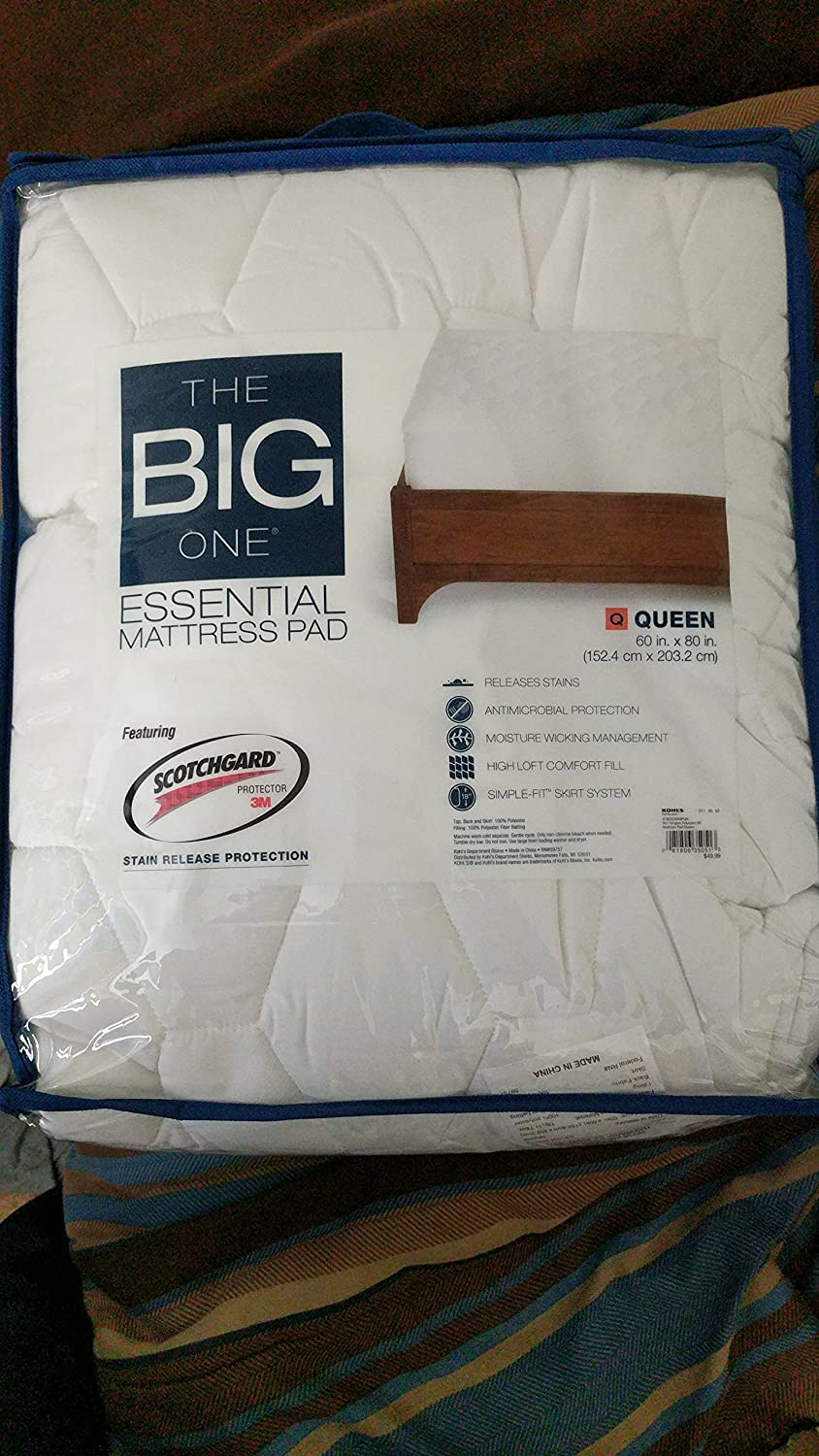 Amazon.com: The Big One Essential Mattress Pad   Queen: Health