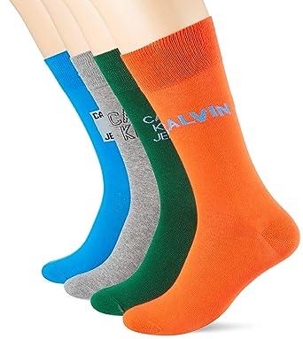 87d912165192 Calvin Klein 4 Pack Logo Herren Socken Mehrfarbig
