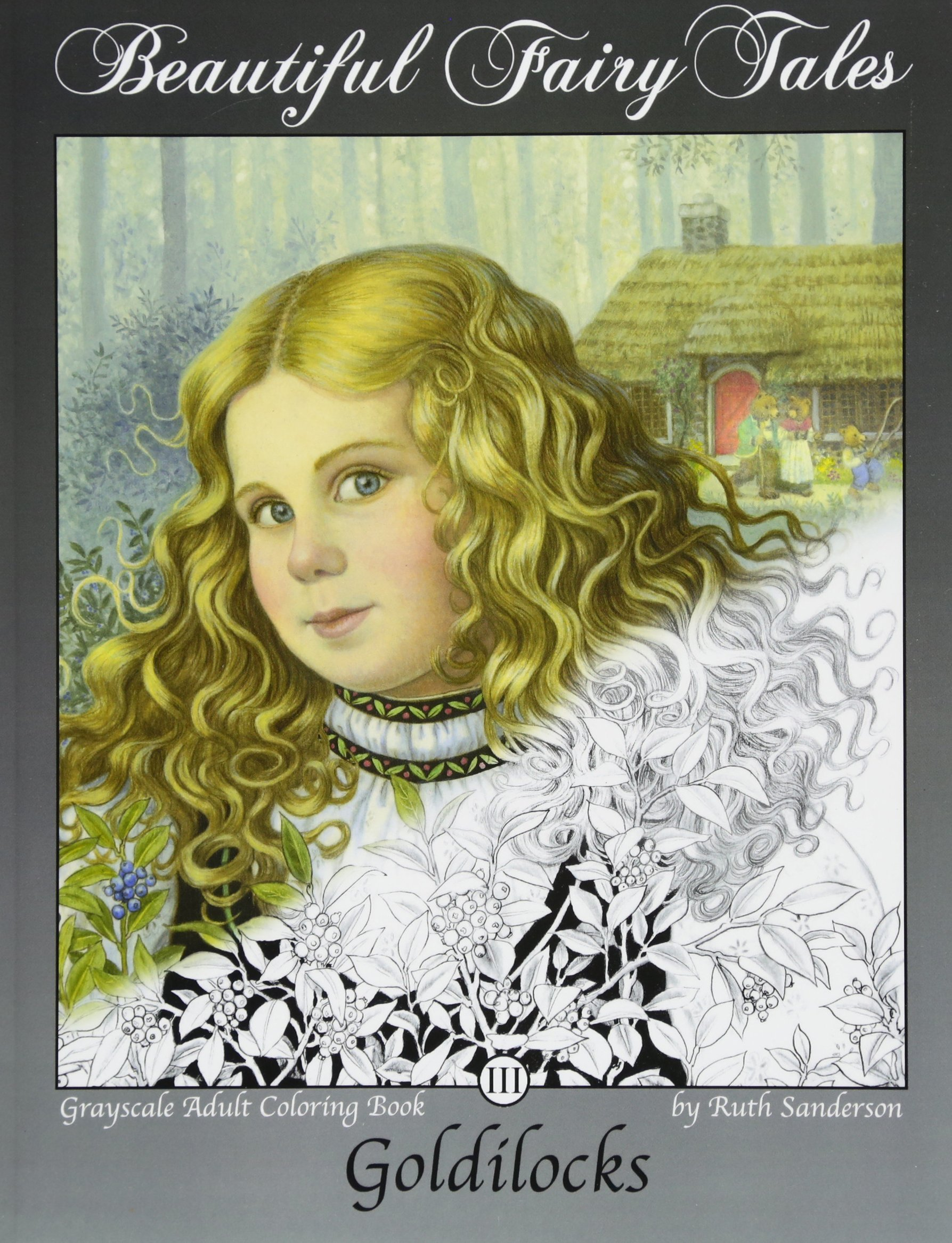 goldilocks-grayscale-adult-coloring-book-beautiful-fairy-tales-volume-3