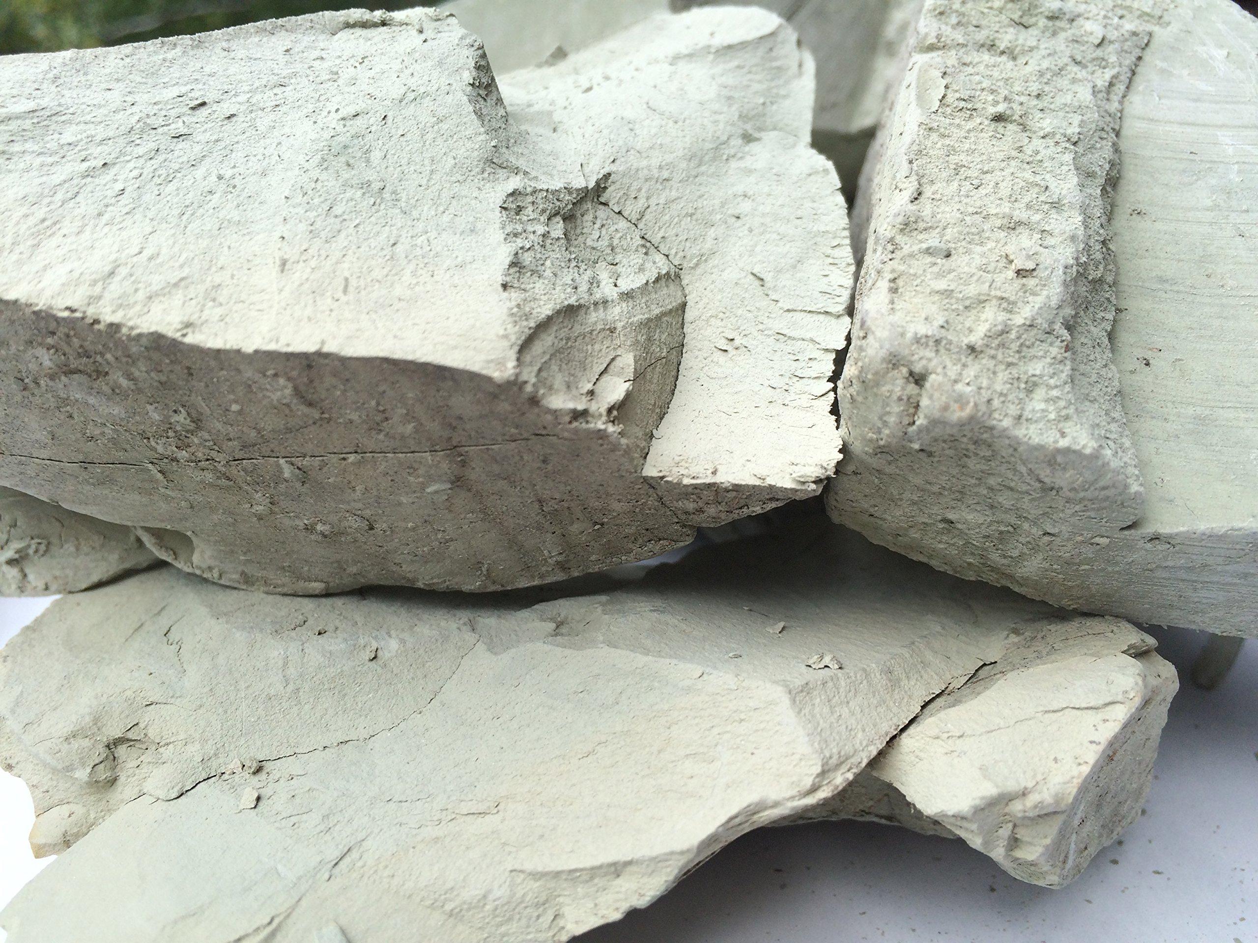 Sapphire Edible Clay Chunks (lump) Natural for Eating (Food), 4 oz (113 g)