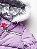 London Fog Girls' Toddler Snowsuit with Snowbib and Puffer Jacket, Violet Silver Foil, 4T
