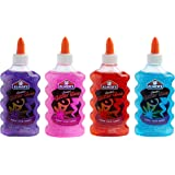 Elmer's Liquid Glitter Glue, Washable, Assorted Colors, 6 Ounces Each, 4 Count - Great For Making Slime