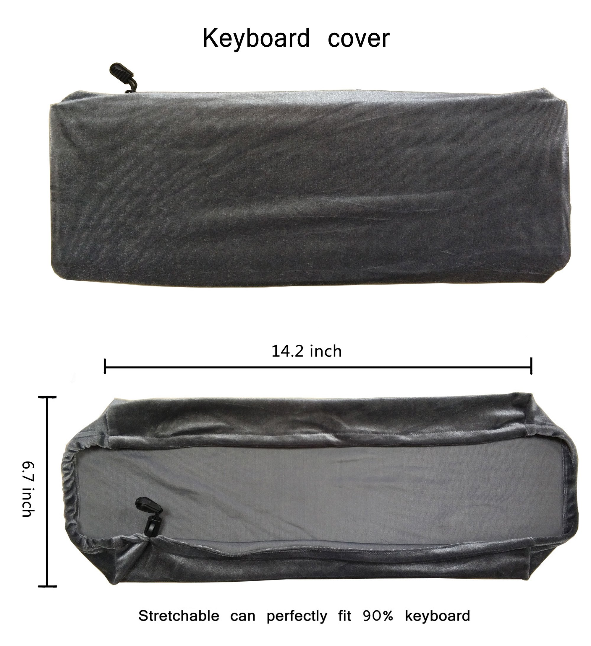 WOMACO Stretch Monitor Cover Protector, Monitor + Keyboard + Mouse Desktop 3 Pieces Set Dustproof Cover by WOMACO (Image #4)