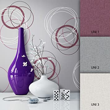 Newroom Tapete Grau Vliestapete Silber Schwarz Grafisch Modern