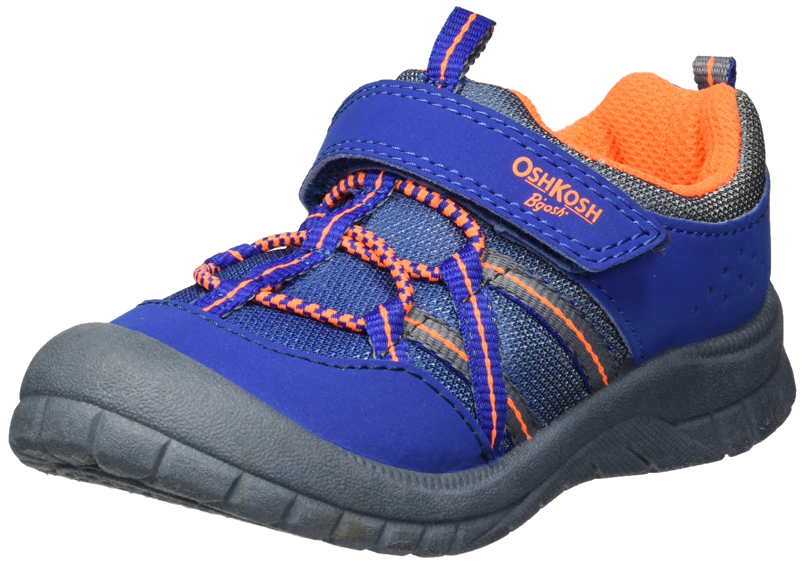 OshKosh B'Gosh Boys' Lazer Bumptoe Athletic Sneaker, Grey, 12 M US Little Kid