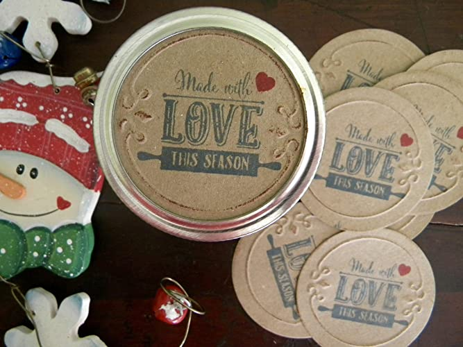 amazon com made with love mason jar labels canning jar labels