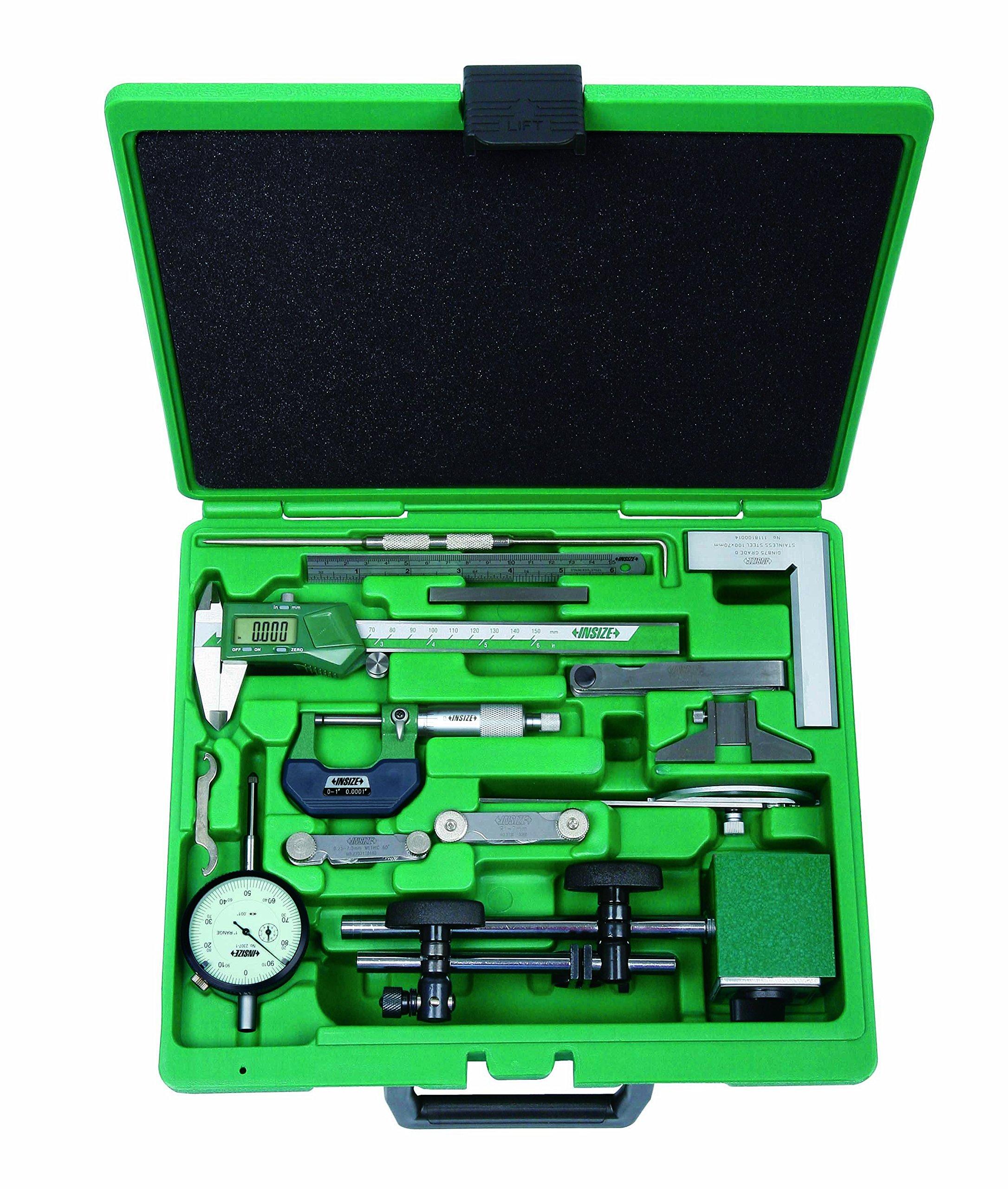 INSIZE 5013-E Measuring Tool Set, 13 Piece by INSIZE