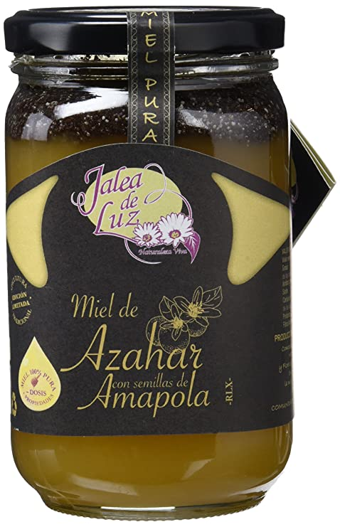 Jalea de Luz Miel de Azahar con Amapola - 500 gr: Amazon.es ...