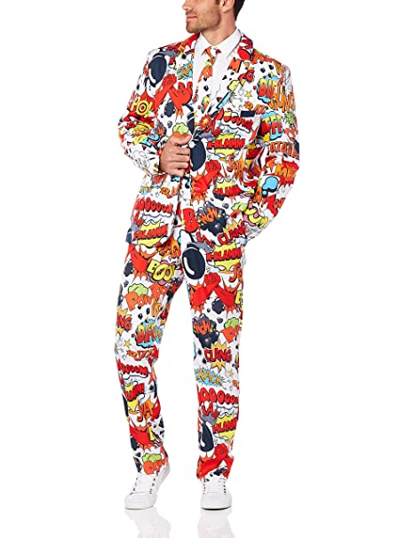 Amazon.com: Smiffys Comic Strip - Traje para hombre con ...