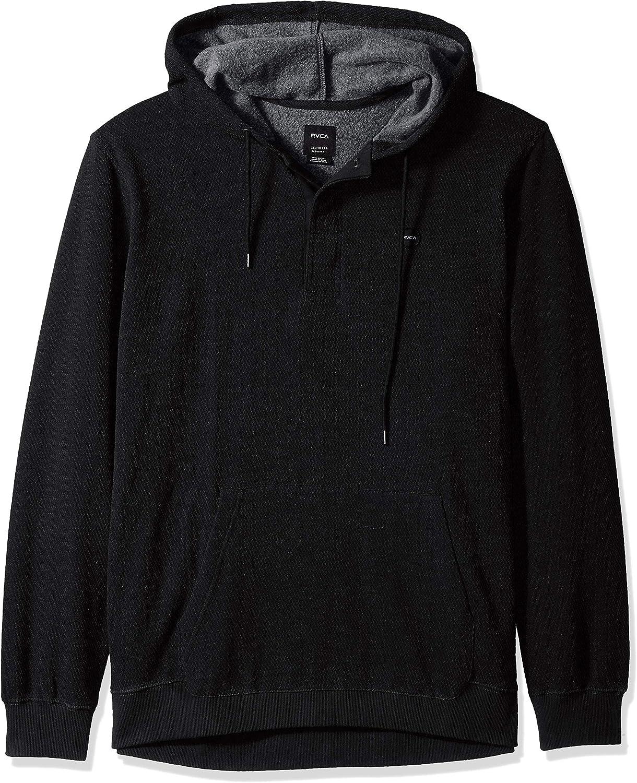 RVCA Mens Lupo Pullover Hooded Fleece Sweatshirt