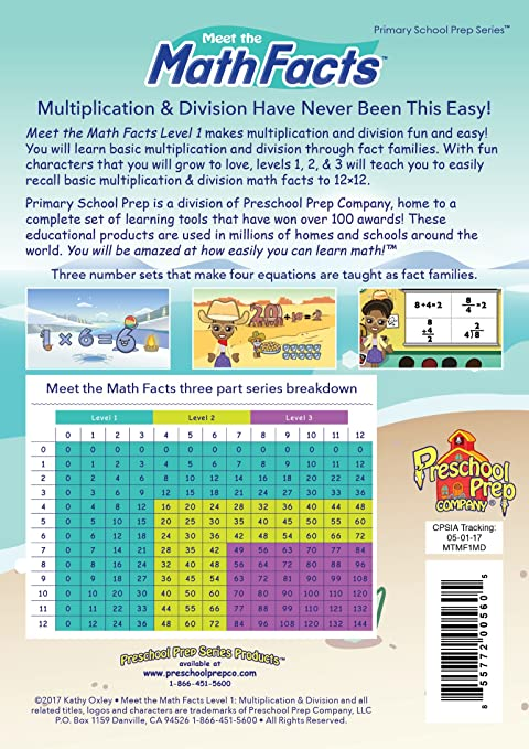 Amazon.com: Meet the Math Facts - Multiplication & Division Level 1 ...