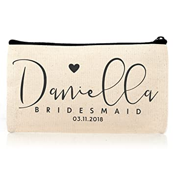 Personalized Cosmetic Bag Travel Makeup Pouch Wedding Bridal Party Dsg 10 1 Piece
