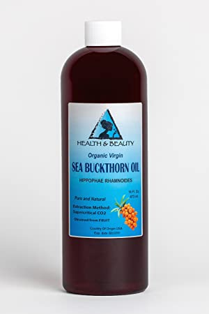 Sea Buckthorn Oil Organic Unrefined Virgin Supercritical CO2 Extracted Pure 16 oz