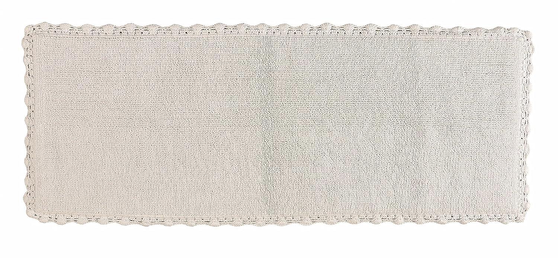 Crochet Bath Runner, 22 by 60-Inch, White