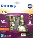 Philips 471243 LED Classic Glass Dimmable PAR20 40-Degree Spot Light Bulb with Warm Glow Effect 500-Lumen, 2200-2700…