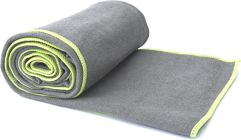 Popular Yoga Towel! All-in-1 Sports & Hot Yoga Towel - 100% Microfiber, Super Absorbant, Non Slip, Light, Quick-Dry - No Slipping in Bikram Yoga! #1 ...
