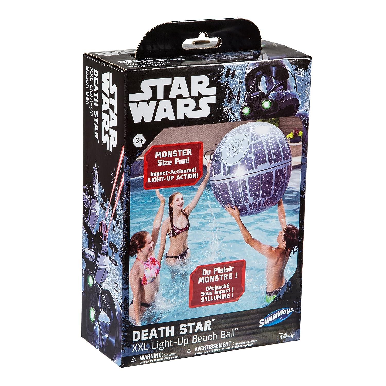 amazon com swimways star wars death star xxl light up beach ball