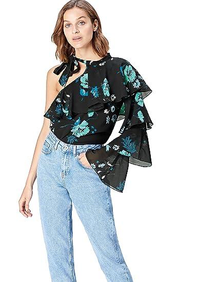 07cfe5658e2 FIND Blouse Asymétrique à Volants Femme  Amazon.fr  Vêtements et accessoires